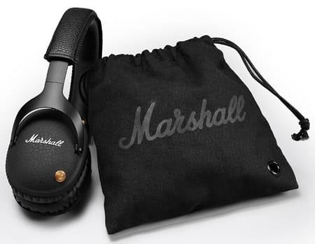 El Marshall Monitor Bluetooth viene con funda