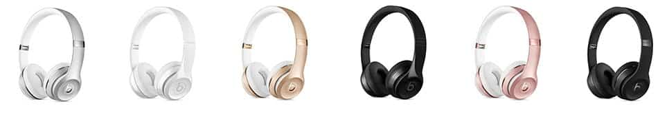Los Beats Solo 3 wireless estan disponibles en varios colores