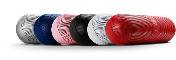 altavoz bluetooth beats con forma de pastilla disponible en 7 colores
