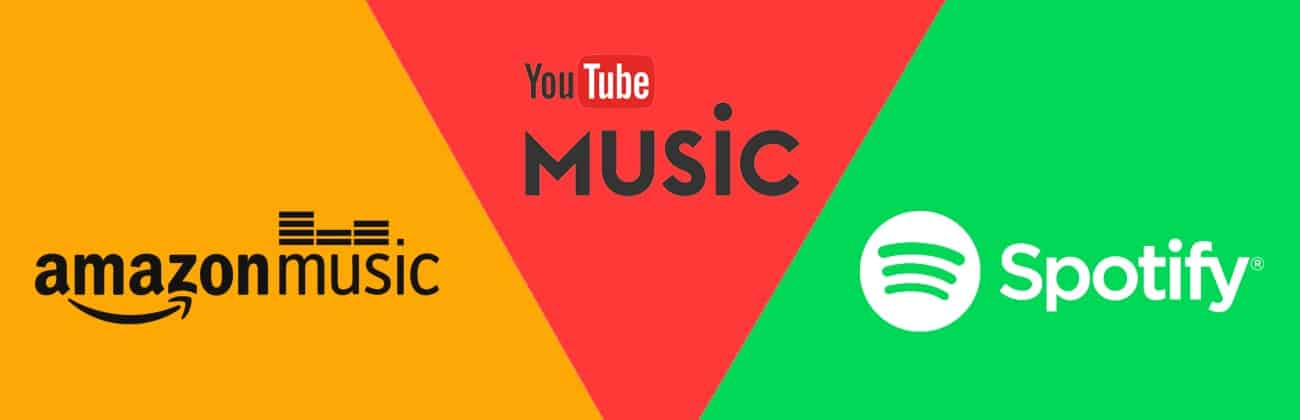 Comparativa Spotify vs Youtube music vs Amazon Music, cual