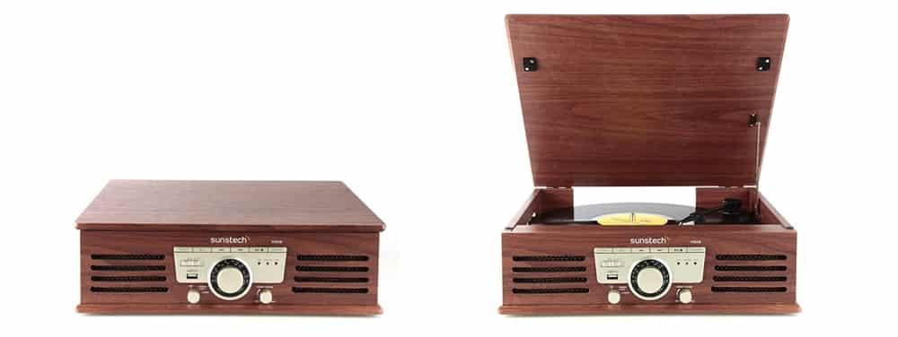 tocadiscos vinilo de madera sunstech pxr3
